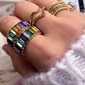 Baublebar Multicolored Crystal Ring